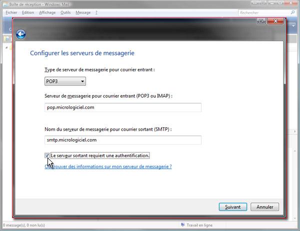 Configurer messagerie orange windows 10